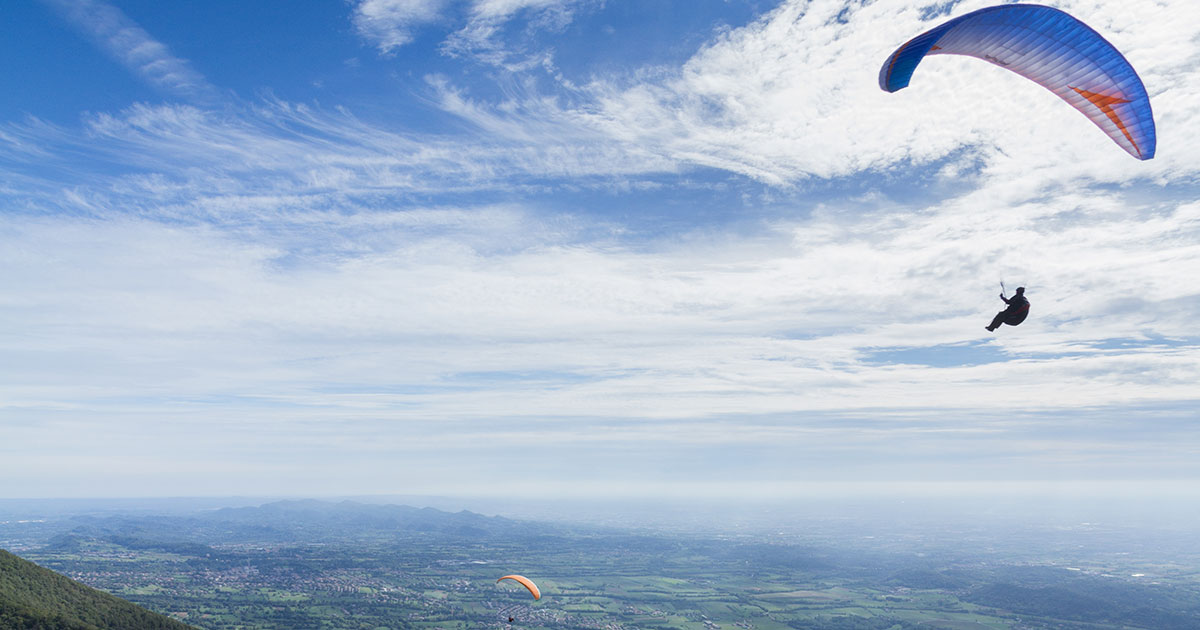 Free flight, paragliding and hang-gliding